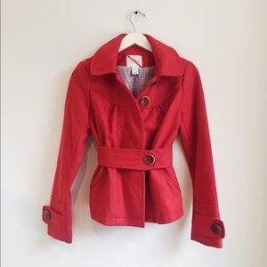 Anthropologie count the stars hooded red jacket